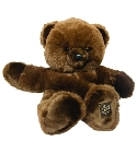 peluche Ours collection Prestige marron 80 cm