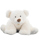 peluche Peluche ours Pat'Ours blanc 90 cm
