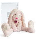 peluche Fluffy lapin longues jambes rose 38 cm