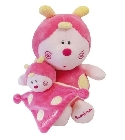 Peluches Luminou Papillon rose avec doudou