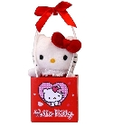 peluche Peluche Saint Valentin Hello Kitty rouge