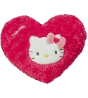 Coussin Hello Kitty coeur rose