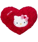 Peluche Coussin Hello Kitty coeur rouge