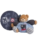 Doudou Kaloo Blue Denim patapouf ours tendre