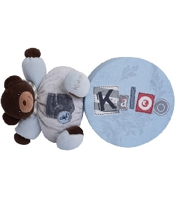 peluche Doudou Kaloo Blue Denim ours costaud