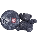 Doudou Kaloo Blue Denim ourson trésor