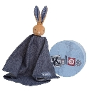 Doudou Kaloo Blue Denim lapinou mouchoir