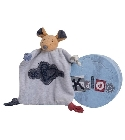Doudou Kaloo Blue Denim souris coeur