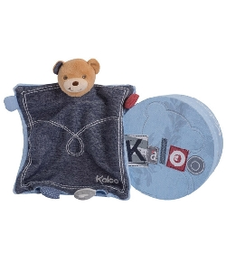 peluche Doudou Kaloo Blue Denim ourson tr�sor