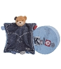 Doudou Kaloo Blue Denim ourson tr�sor