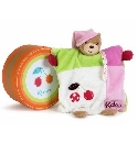 peluche Doudou Kaloo Colors ourson fille cerise