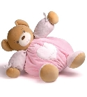 peluche Kaloo Plume ours maxi patapouf rose