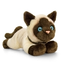 Peluche chat siamois 30 cm