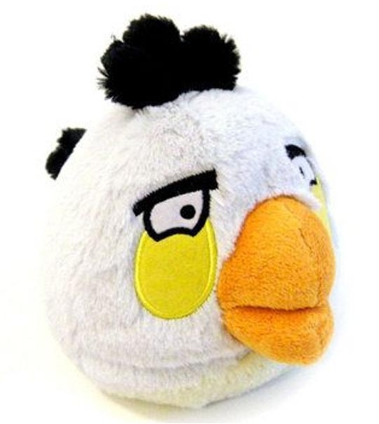 Peluches Angry Birds blanc 20 cm