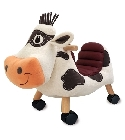 peluche Porteur vache Moobert ride on