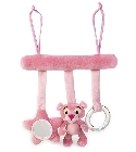 peluche Jeu d'activit�s Panth�re rose b�b� 25 cm
