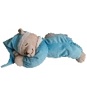 peluche Babiage Doodoo ours veilleuse turquoise