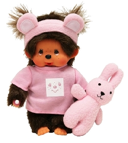 peluche kiki fille et son lapin 20 cm chez doudou. Black Bedroom Furniture Sets. Home Design Ideas
