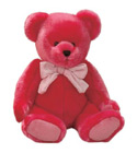 Peluche augustadubay ours_silky_rouge