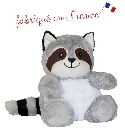 peluche Peluche bouillotte raton laveur Made in France