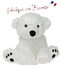 peluche Peluche bouillotte ours polaire Made in France