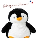 peluche Peluche bouillotte pingouin Made in France