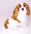 Peluche Cavalier King Charles assis 55 cm