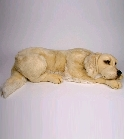 peluche Peluche chien Golden Retriever allongé 85 cm