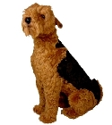 Peluche Airedale terrier assis 90 cm