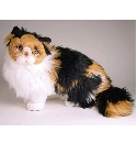 peluche Peluche chat calico assis
