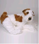 peluche Peluche chien Fox Terrier allongé 60 cm