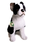 peluche Peluche Boston Terrier assis 55 cm