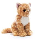 Peluche chat tabby 26 cm