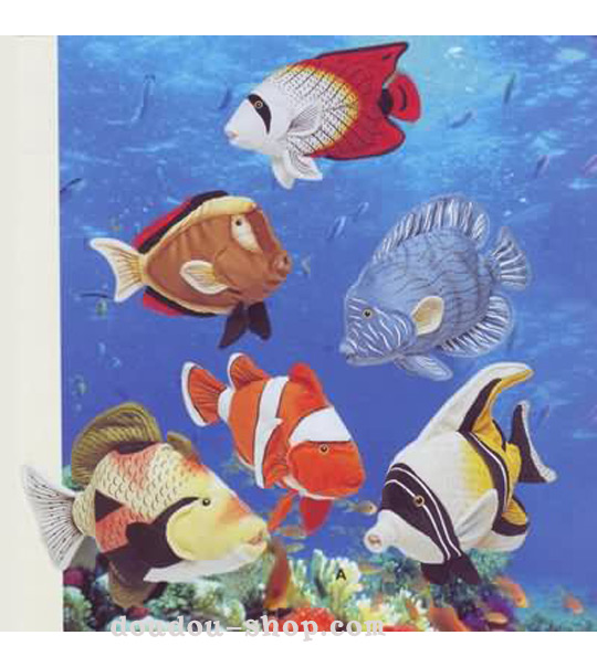 Impression de l 39 article peluche six poissons tropicaux for Poisson tropicaux