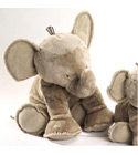 Peluche Grand El�phant taupe tartine et chocolat