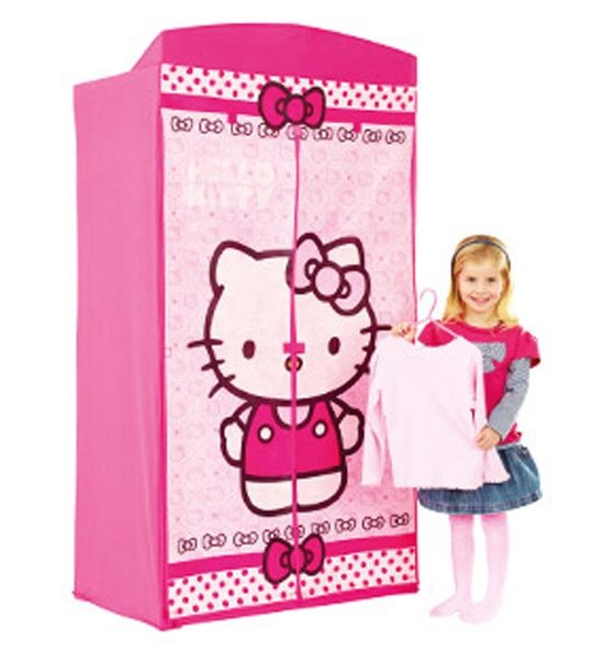 penderie en tissu hello kitty chez doudou. Black Bedroom Furniture Sets. Home Design Ideas