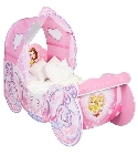 Lit enfant carrosse Princesses Disney 140 cm