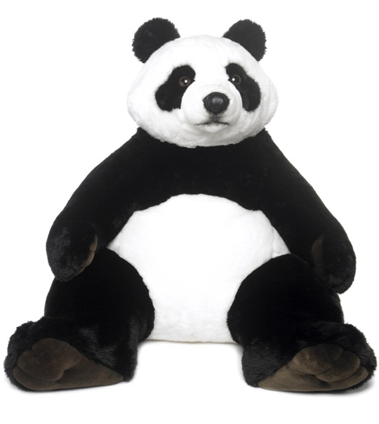 impression de l 39 article peluche panda g ant 1 m chez doudou. Black Bedroom Furniture Sets. Home Design Ideas
